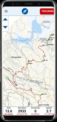 Cdt Colorado Map.Postholer Com Topographic Trail Maps
