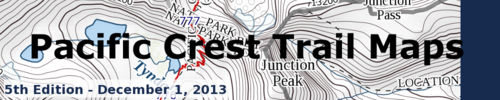 Pacific Crest Trail Maps