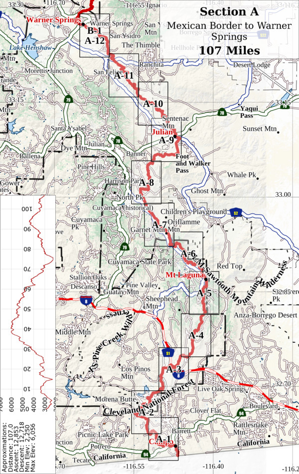 Pacific Crest Trail Section Overview