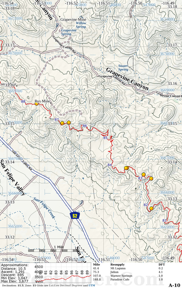 Pacific Crest Trail Map Book Preview