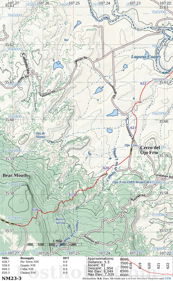 Continental Divide Trail Map Book Preview