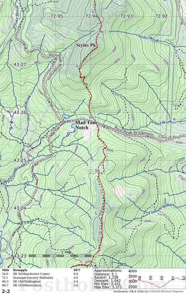 Long Trail Map Book Preview