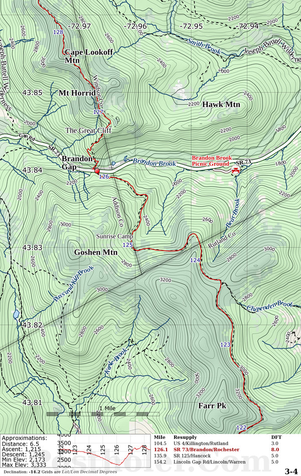 Long Trail Maps