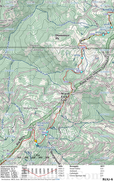 PCT Maps: Postholer vs Halfmile