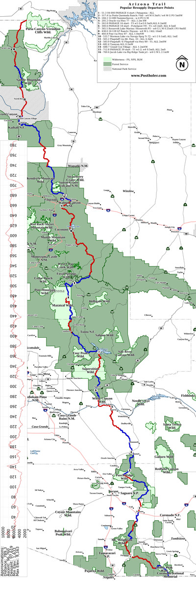 Arizona Trail Wall Maps